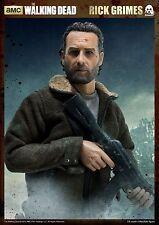 "READY ThreeZero THE WALKING DEAD Rick Grimes 1/6 12"" Figure 3A Andrew Lincoln"