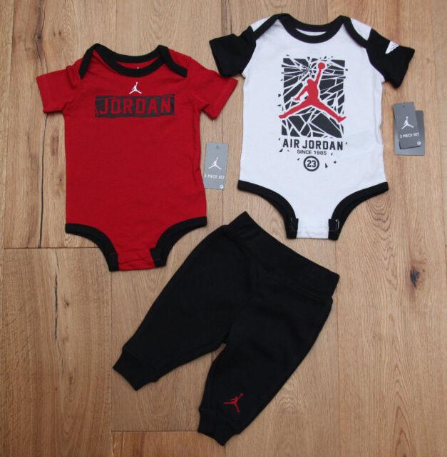 6-9 0-6 6 3-6 Nike Jordan Jumpman Boy/'s Bodysuit Set 0-3 9-12 Months 3