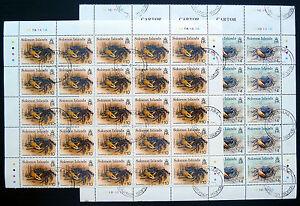 SOLOMON-ISLANDS-1993-Crabs-4-amp-10-x-25-Each-Used-Cat-212-SALE-PRICE-BN1080