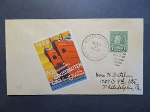 US-1928-SS-Columbus-German-American-Lines-Paquebot-Cover-w-Label-Z7935