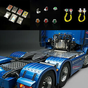 Simulation-Plastic-Decoration-Oil-Tubing-Set-for-1-14-Tamiya-RC-Tractor-Truck