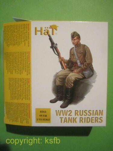1:72 HäT 8263 WKII 2 Weltkrieg Rußland Russische Panzer Soldaten aufgesessen