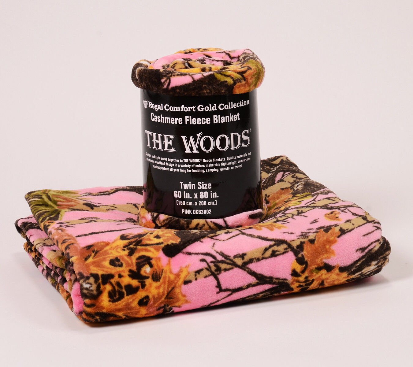 The Woods Collection Cashmere Fleece Blanket by Regal Comfort Twin