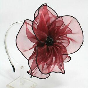 FLOWER-HAIR-HEADBAND-FASCINATOR-HAT-ACCESSORIES-HB1470