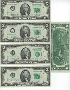 UNITED-STATES-1976-2-034-C-034-DISTRICT-5-CONSECUTIVE-NOTES-NICE-UNC