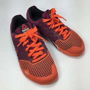 Reebok Crossfit Nano 4.0 M40528 Maroon Orange Lace Womens Training Sneakers Sz 7