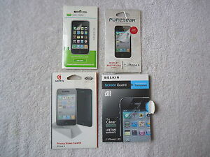 Lot-Of-4-Packs-Of-Iphone-Screen-Protectors-2-034-NOS-034-2-Opened-Used-034-GREAT-L