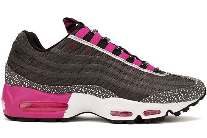 Nike Air Max 95 Premium Tape Sneakers New, Black / Fog Pink 599425-006 sku AA