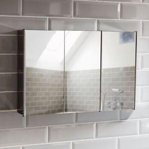 Bathroom-Cabinet-Triple-Door-Wall-Mount-Mirror-Storage-Cupboard-Stainless-Steel