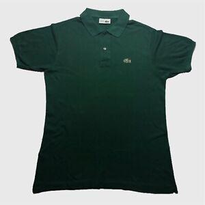 Vintage-Pour-Homme-Polo-Lacoste-Medium-4-vert-a-manches-courtes-en-coton