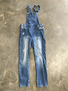 girls-dungarees-Age-10-11-Years-Blue-Denim-Denim-amp-Denim
