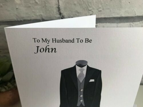 Husband To Be Personalised Husband Wedding Card Wedding Day On Our Wedding Day