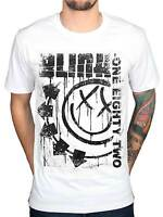 Official Blink 182 Spelled Out Jumbo Print T Shirt Rock Band Merch *All Sizes*