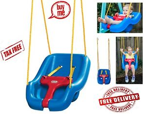 Details About Little Tikes 2 In 1 Snug N Secure Swing Blue Outdoor Indoor Toddler Seat