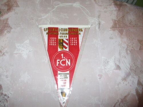 1.FC Nürnberg Original Wimpel Deutscher Fussballmeister 1968 + Erfolge Neu