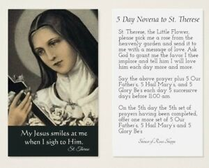 St therese 5 day novena