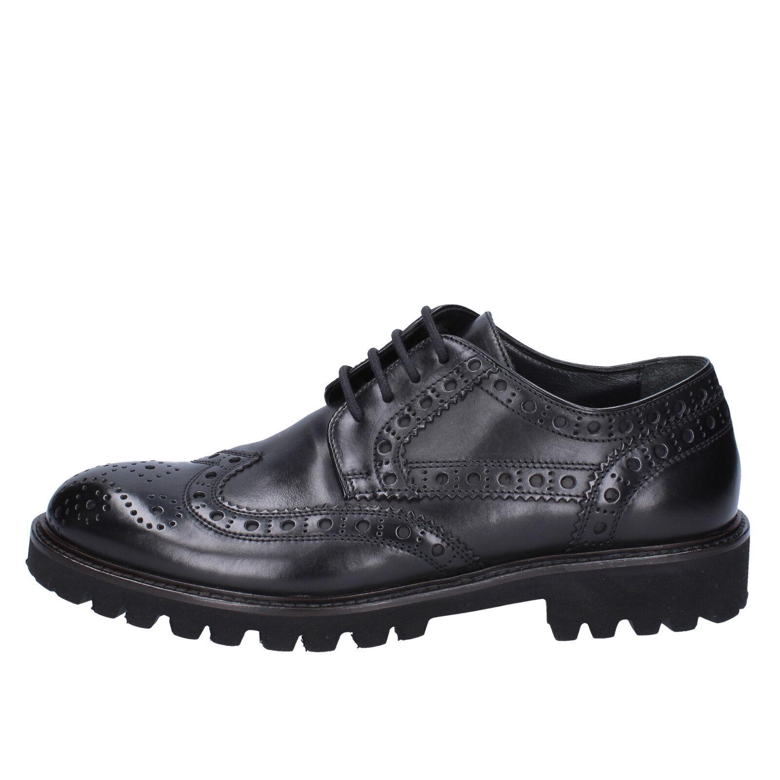 scarpe EU uomo TRIVER FLIGHT 39 EU scarpe classiche nero pelle BX569-39 14c240