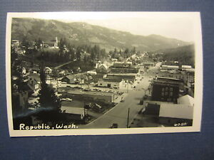 Old-Vintage-c-1950-039-s-REPUBLIC-Washington-RPPC-Real-Photo-POSTCARD