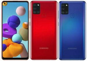 Nuevo Samsung Galaxy A21s Dual Sim 2020 4G LTE 32GB Teléfono inteligente Negro Azul Rojo