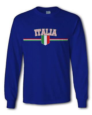 Men's Italy Euro 2015 2016 soccer long sleeve shirt jersey football Italia