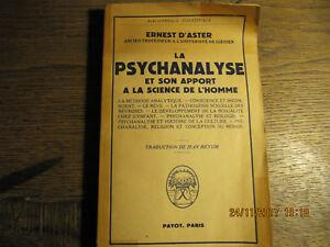 La-psychanalyse-et-son-apport-a-la-science-de-l-039-homme-D-039-ASTER-1951