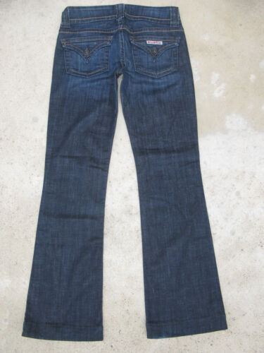 26 Bootcut 29 Signature Flaps Dark Stretch Low Jeans Hudson L Sz Boot Distressed paaW7