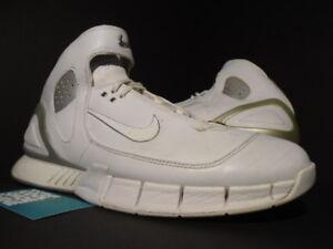 separation shoes 9504a a66a7 Details about 2005 NIKE AIR ZOOM HUARACHE 2K5 WHITE METALLIC SILVER KOBE  2K4 310850-111 11