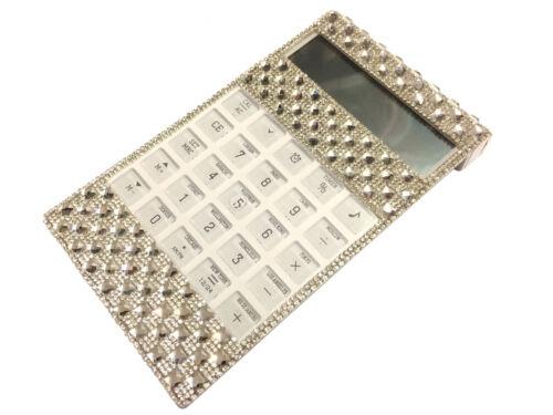 Blingustyle Crystal Diamante 12 Digit world time//alarm//calendar Calculator SS