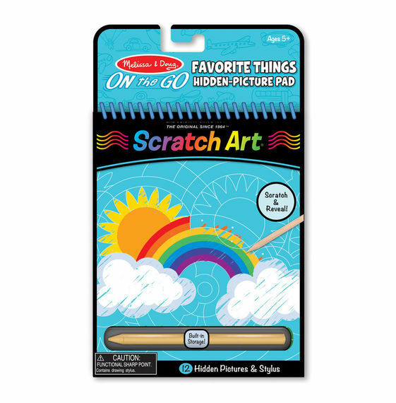 Melissa & Doug On the Go Scratch Art - Hidden Picture Pad - Favorite Things