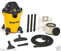 Wet Or Dry Floor Vacuum Cleaner For Shop Or Garage Home 6 Gallon Assembled 3 Hp
