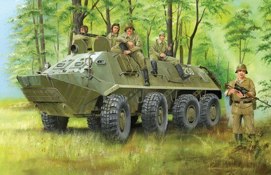 01543 Trumpeter 1 35 Model BTR-60PA APC Transport Vehicles Tank Delivery Wagon