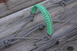 braided 2 noseband knot burgundy Beige rope halter TESWA