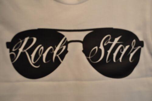 ROCK STAR TODDLER WHITE  T SHIRT
