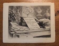 1891 Octave Uzanne carte de voeux artistique Très rare Félicien Rops ?