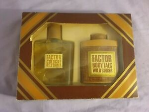 BNIB-Vintage-Max-Factor-Aftershave-And-Talc-Wild-Ginger