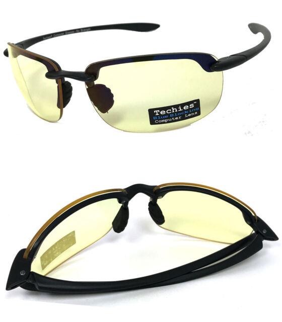bee9d48d084a Pro Computer Anti Reflective Glasses Sunglasses Semi Rimless Block Blue Ray