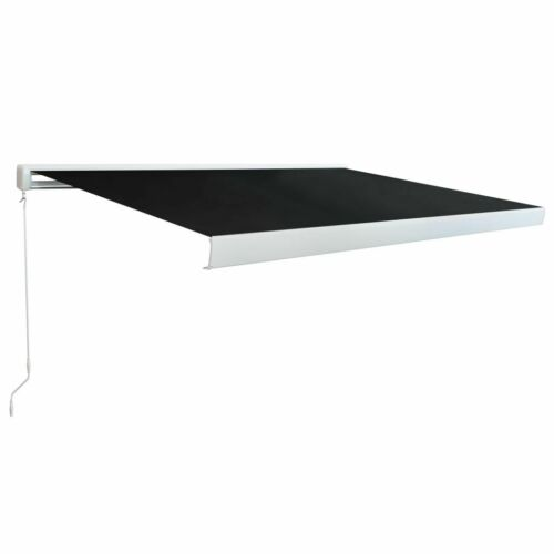 vidaXL Manual Cassette Awning Anthracite Retractable Canopy Shade Multi Sizes