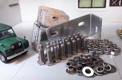 Land Rover Serie 2 2a profunda alféizar de soportes de montaje galvanizado 330389 Lwb /& Pernos