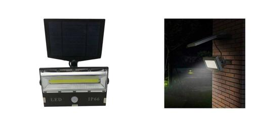 Faretto led cob sensore movimento pannello solare ricaricabile luce esterno 501
