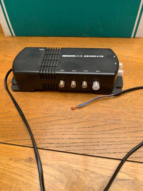 AERIAL AMPLIFIER TV Link UHF//DAB IR Pass LTE Amplifier 12dB Gain 4 WAY SKY