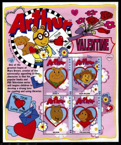 Nevis 1404-1405 MNH Arthur and Friends Cartoons Comic 2004 x16643