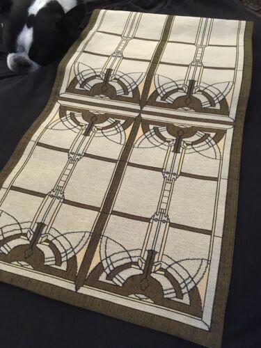 "Architecture FRANK LLOYD WRIGHT Inspired 76"" x 14"" Table//Buffet//Dresser Runner"