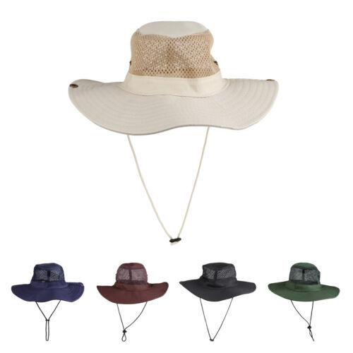 Outdoor Boonie Hat Wide Brim Breathable Hunting Fishing Safari Sun Hat Unisex