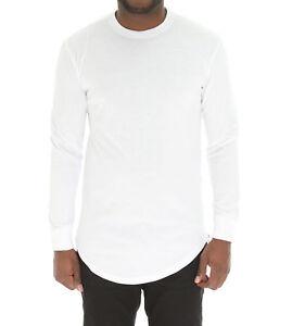 5d7ef53745e Bleecker & Mercer Men's Long Sleeve Longline T Shirt with Side ...