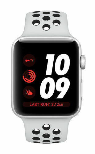 Apple Watch Nike 42mm Silver Aluminium Case With Pure Platinum Black Nike Sport Band Gps Cellular Mqlc2ll A For Sale Online Ebay