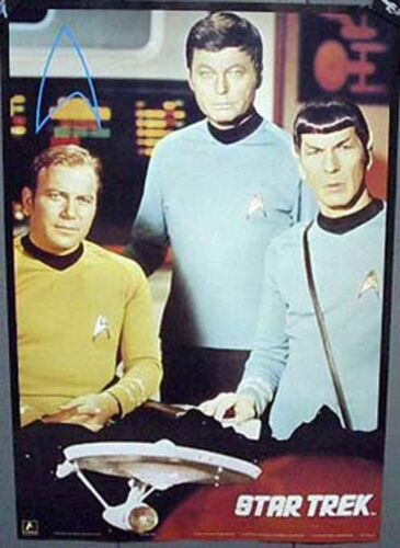 Classic Star Trek Crew Poster KirkSpockMcCoy ROLLED FREE S&H STPO2777