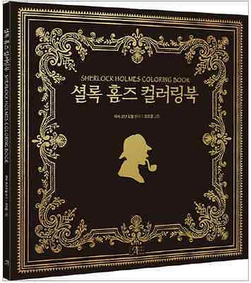 SHERLOCK HOLMES Coloring Book For Adult Fun Relax Arthur Conan Doyle Gift detect