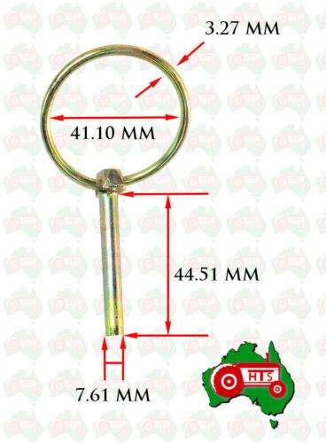 "10 X 8 mm 5//16/"" Lynch Linch Pin Locking Tractor Implement Trailer Caravan"