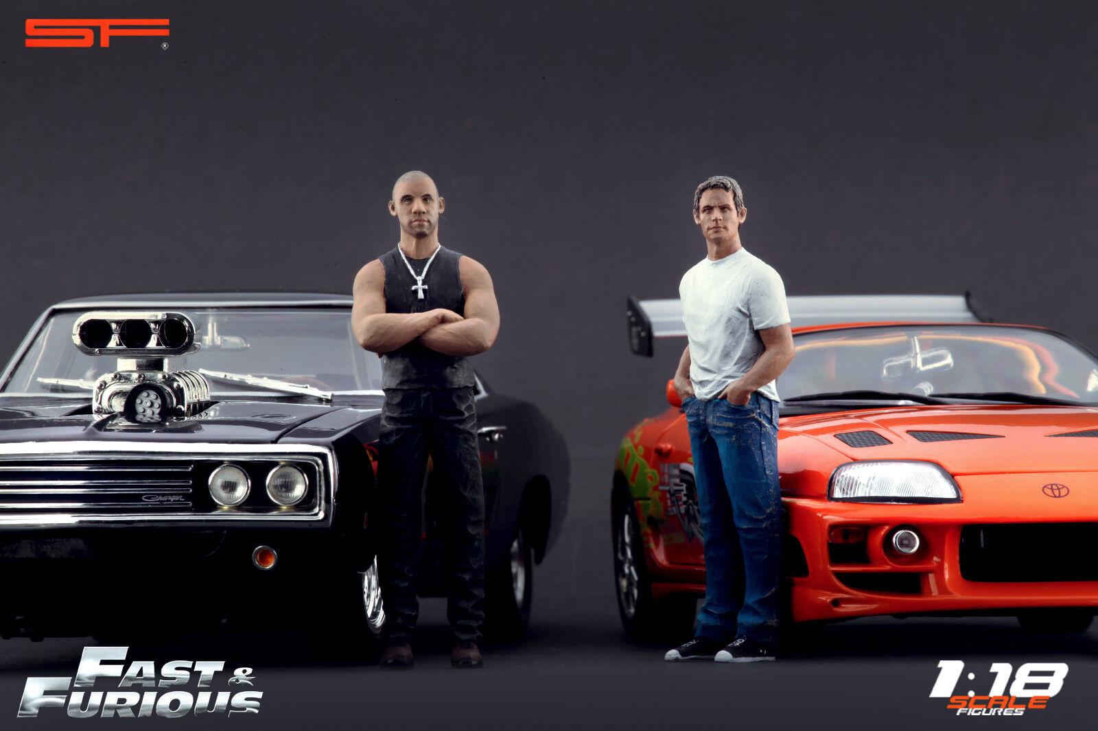 1 18 Fast & Furious Paul Walker Vin Diesel VERY RARE    figures for diecast cars