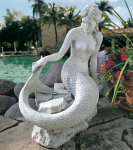 Image Is Loading Mermaid Garden Statue Sculpture